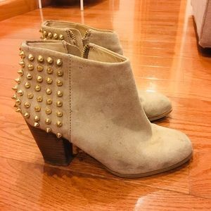 Zara Suede studded ankle boots